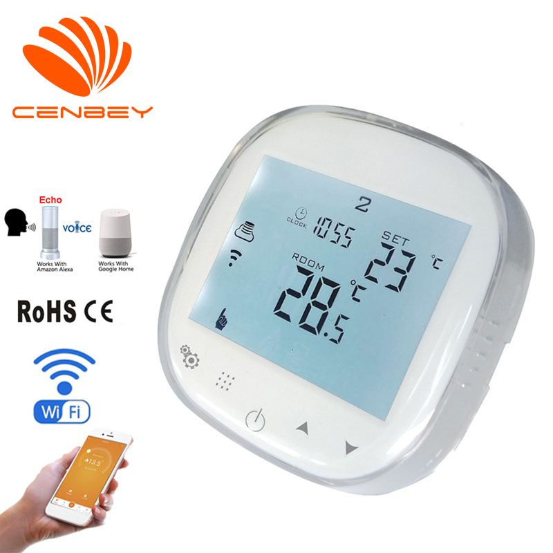 Smart Wifi Thermostat Alexa Programmable Room Thermostat Voice Control Gas Boiler Electric Underfloor Heating Thermostats 16A