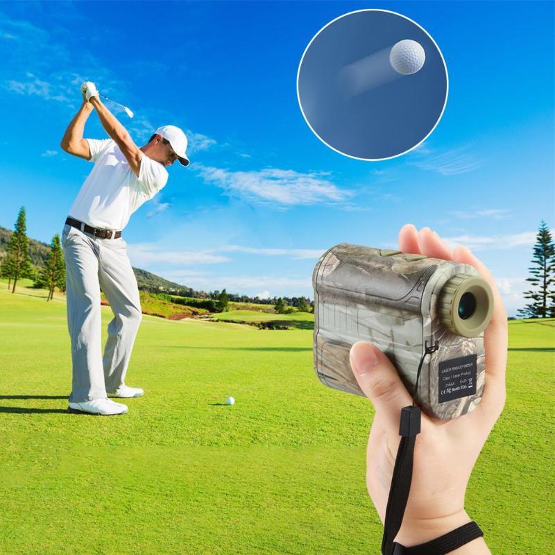 Digital Laser Rangefinder Distance Meter Range Finder Measure Device for Hunting Amplification Factor 6X Eyepiece Aperture 16MM