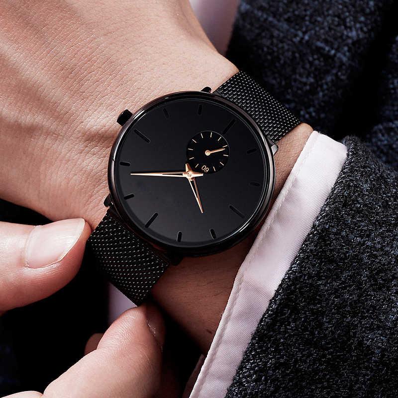 Herren Uhren hommes mode montres classique Montre-bracelet de luxe Ultra mince Montre Homme affaires Quartz horloge reloj hombre