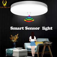 Luces Led de techo con sensor de movimiento lámpara de techo moderna montada en superficie para iluminación del hogar, cocina, 220V, 12W, 18W, 20W, 30W, 50W