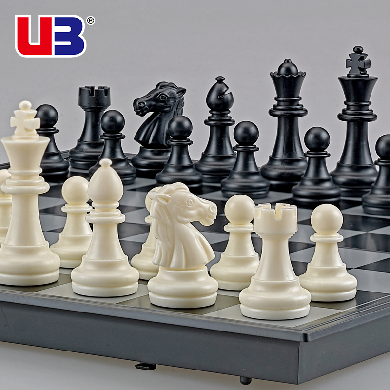Chess Large Magnetic Black And White Gold And Silver Chess Pieces Folding Chessboard Training Game Chess