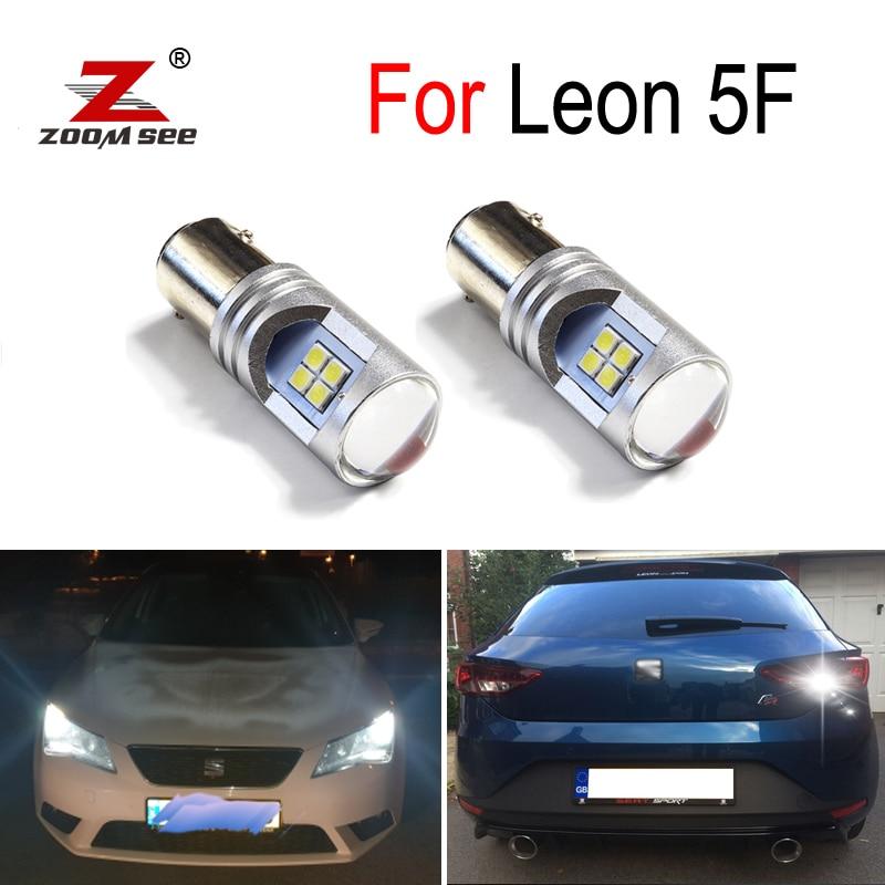 100% White Canbus Error Free LED DRL Daytime Running Light Reverse Exterior Lamp For Seat Leon MK3 5F (2013+)