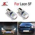 100% белые светодиодные дневные ходовые огни без ошибок Canbus, фары заднего хода для Seat Leon 3 MK3 5F (2013 +)