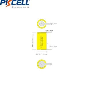 Image 5 - 2/6/8/12PCS PKCELL 4/5SC 1200mAh 1.2V Ni CD Ricaricabile batteria 4/5 SC Sub C batterie con linguette di saldatura per utensili elettrici