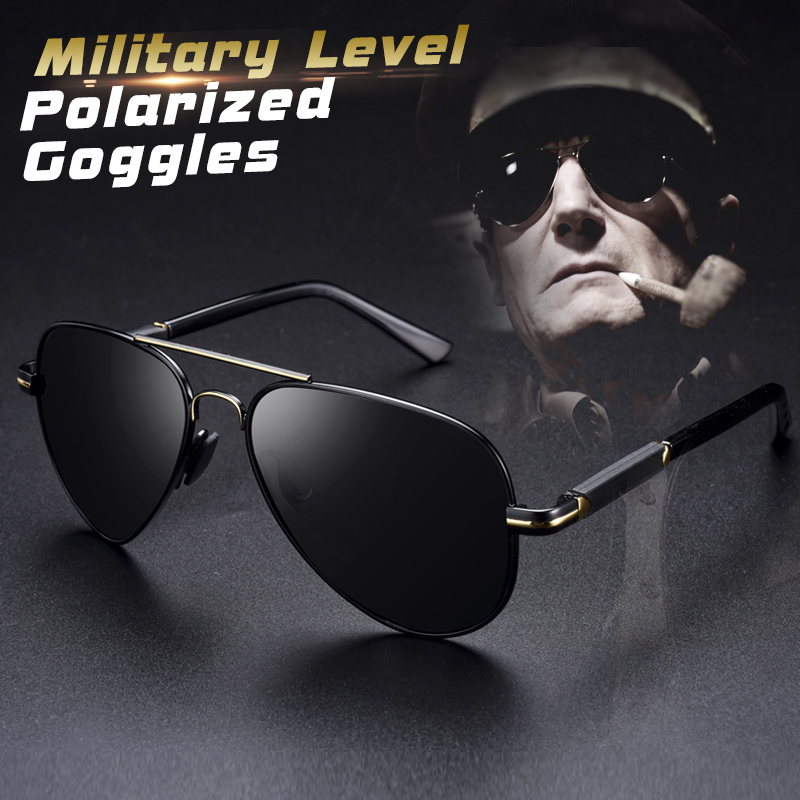 Mens Polarized Aviation Alloy Frame Photochromic Sunglasses Men Brand Design Pilot Male UV400 Sun Glasses Safety Goggles Driving