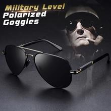 Mens Polarized Aviation Alloy Frame Photochromic Sunglasses