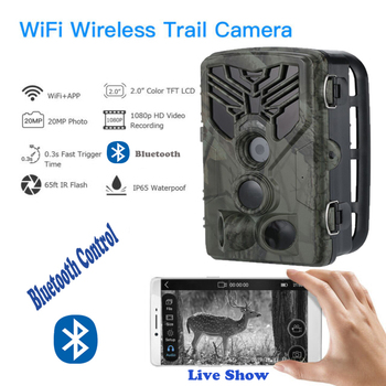 Live Show Wild Trail Camera  Wifi APP Bluetooth Control Hunting Cameras Wifi830 20MP 1080P Night Vision Wildlife  Photo Traps 6
