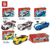 Bausteine Technik Stadt Super Racers Serie Geschwindigkeit Supercar Racing auto Z06 Figuren Für Kinder Bildung Spielzeug SY6792-SY6795