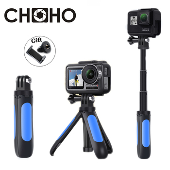 for Gopro Hero Extendable Handle Tripod Pocket Pole Mini Selfie Stick + Phone Holder Vlog YouTube for Go Pro DJI OSMO Xiaomi yi