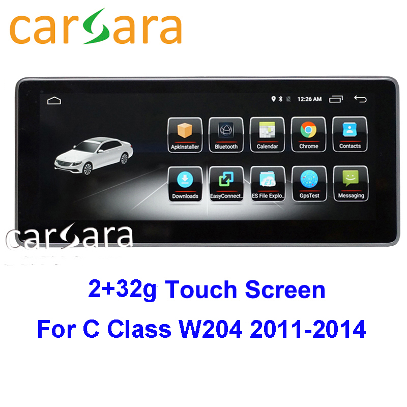 <font><b>RHD</b></font> <font><b>W204</b></font> W205 Mercedes Monitor <font><b>Android</b></font> Display for C GLC Class 2011 2012 2013 2014 10.25 Touch Screen Multimedia Player Stereo image