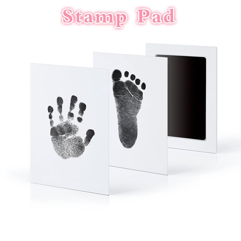 Набор нетоксичных штампов для ухода за ребенком, сувениры для младенцев, подушка для младенцев, коврик для штампов с чернилами, детская игру...