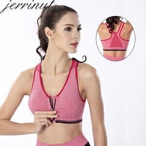 Image 3 - 3pcs לדחוף למעלה Bralette חזיות לנשים חלקה חזייה עם מרופד קדמי רוכסן ספורט חזייה Wirefree Bralette כושר חולצות