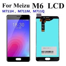 """اختبار جيد 5.2 """"ل Meizu M6 M711H M711M M711Q شاشة الكريستال السائل شاشة محول رقمي يعمل باللمس الجمعية ل Meizu M6 LCD"""