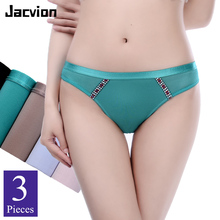 3 Pieces/Pack Summer Panties Women Sexy Lace Underwear High Quality Hollow out Low-Rise Breathable Cotton Crotch Female Briefs 1 pcs underwear for woman sexy lace panties briefs low rise high quality female panties woman underwear cure sexy s xl bannirou