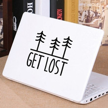 Tree Decal Get Lost Vinyl Sticker Car Window Bumper Decor , Nature Lover Laptop Decals for Apple MacBook Air / Pro Decoration(China)