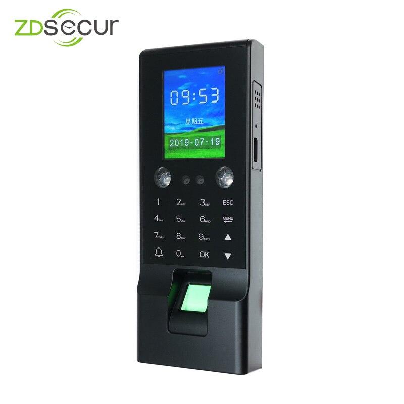 ZDF2 Распознавание отпечатков пальцев IC карта и лицо посещаемость времени и устройство контроля доступа с бесплатным программным обеспечени...