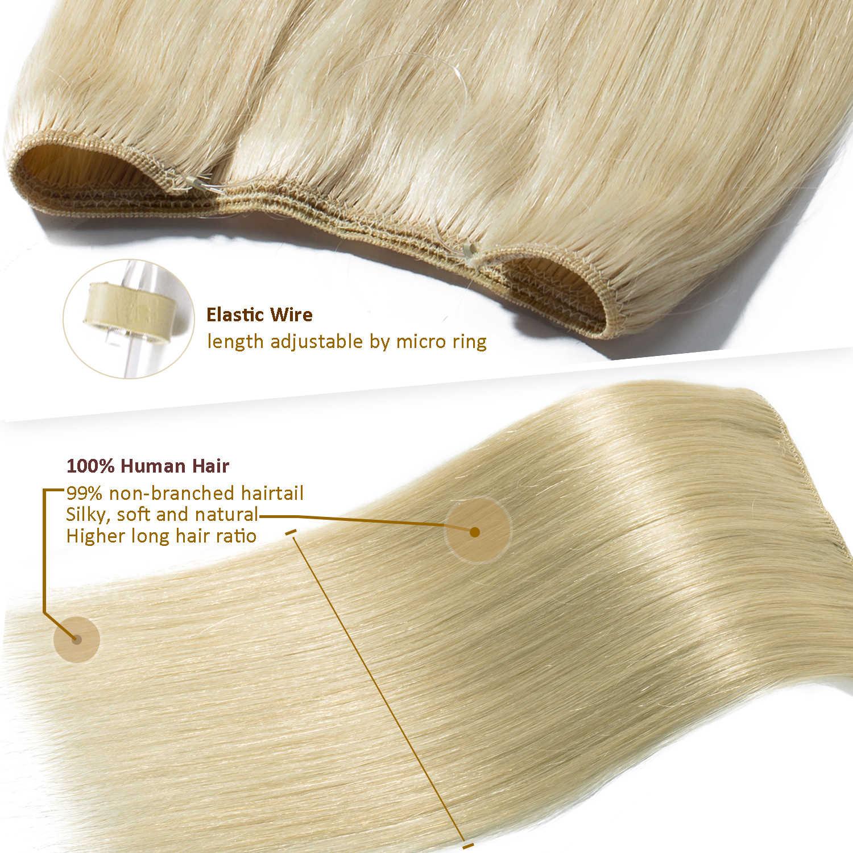 """SEGO 16 """"-24"""" 60 г-80 г рыболовная леска прямые человеческие волосы для наращивания Halo бразильские не Реми невидимые флип в человеческих волос для наращивания"""