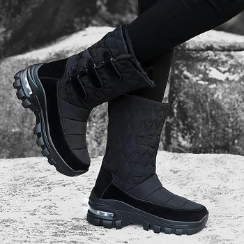 2020 buty damskie buty śniegowe damskie buty zimowe stado buty ocieplane wodoodporne antypoślizgowe buty środkowe buty platformy buty outdoorowe Botas tanie i dobre opinie RYAMAG CN (pochodzenie) Mikrofibra Połowy łydki SZTUCZNE FUTRO Stałe Płaskie z BUTY NA ŚNIEG Sztuczny puch Elastyczna tkanina