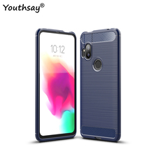 For Motorola One Hyper Case Business Soft Silicone Back Rubber Protective Phone Case For MOTO One Hyper Cover For MOTO One Hyper pudini wb moto x protective plastic back case for moto x phone purple red