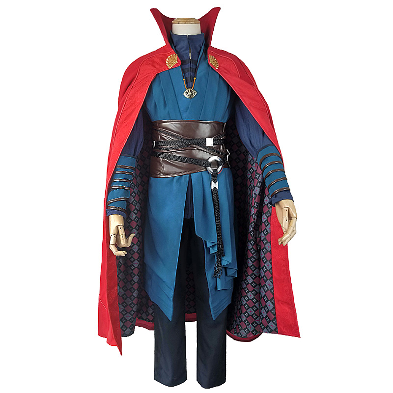 Doctor Strange Stephen Vincent Strange Cosplay Adult Men's Costume Outfit With Necklace Halloween Party Full Outfits