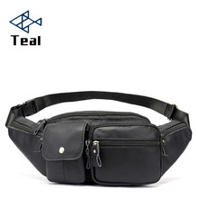 Mens Waist Packs male Genuine Leather Fanny Pack Belt Bag Phone Pouch Bags Travel Male Small
