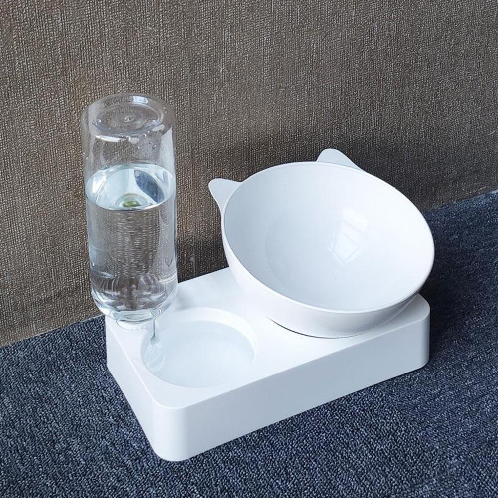 Pet Bowl Automatic Feeder Dog Cat Food Bowl with Water Dispenser Double Dog Drinking Bowl Cat Dish Bowls for Pet Food Supplies