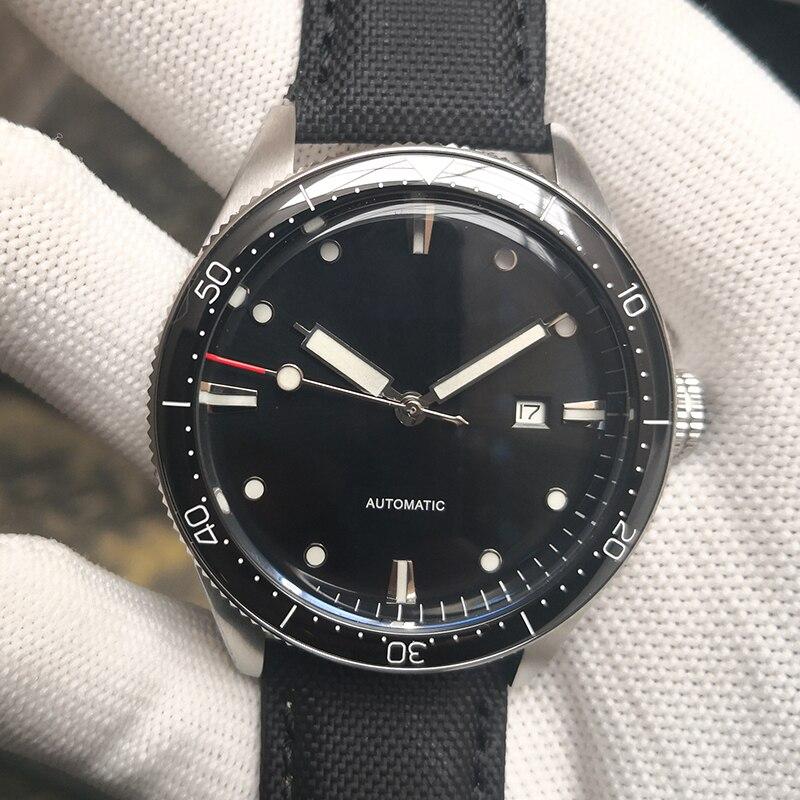 PHYLIDA Brand 50m/165Ft WR Custom Luxury Men Watches Automatic Mechanical 43.8MM Sport Fathoms Fifty Wristwatch