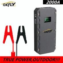 GKFLY 2000A wysoki prąd urządzenie do uruchamiania awaryjnego samochodu 24000mAh urządzenie zapłonowe samochodu Power Bank Jumpstart ładowarka samochodowa do wzmacniacz do akumulatora samochodowego