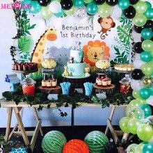 113pcs Latex Balloons Chain Birthday Party Ballon Garland Set Backdrop Decor Balloon Arch Kit Baby Shower Jungle