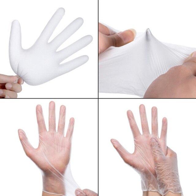TPE Einweg Handschuhe Transparent/Blau 3