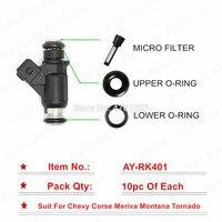 Free shipping 10 sets Fuel Injector Repair Kit For Parts 25345994 Chevrolet Corsa Meriva Montana Tornado Mitsubishi for AY-RK401