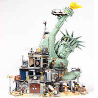 45014 estátua da liberdade bem-vindo ao apocalypseburg modelo blocos de construção tijolos brinquedos presentes natal filme compatível 2 70840