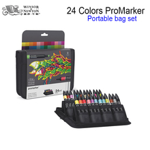 Winsor&Newton Promarker design drawing Marker Pen double tips 24colors/set