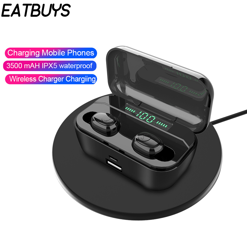 G6S Tws Bluetooth 5.0 Wireless Earphone 8D Stereo Ture Wireless Earbuds Headset With 3500mah Led Display Power Bank Earphone