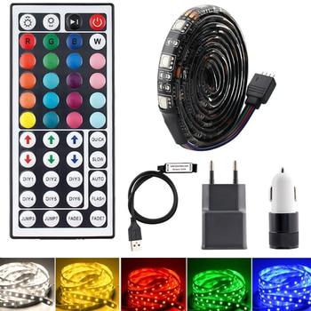 DC 5V USB LED Strip Light RGB 5050 Amblight TV Backlight Waterproof 1M-5M Tape strip lights 44key Remote Control