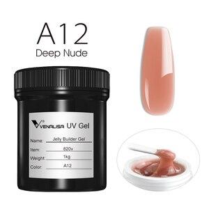 Image 5 - Venalisa dostaw Venalisa 1kg nail art przezroczysty biały różowy kolor kamuflażu uv/led twarde galaretki builder paznokci przedłużyć żele