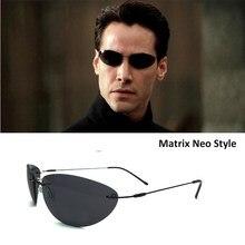 2020 100% titanium matrix estilo neo polarizado óculos de sol ultraleve sem aro homem condução marca design óculos sol
