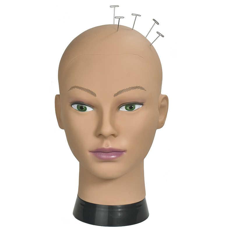 رئيس عارضة أزياء الأفريقية للحصول على شعر مستعار قبعة عرض التجميل مانيكين رئيس الإناث الدمى أصلع المعرضة رئيس