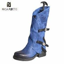 Original antigo cinto fivela bonito meados de tubo botas cavaleiro 2020 outono/inverno moda pele de carneiro dedo do pé redondo meados de bezerro zíper botas