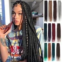 Ombre Crochet boîte à cheveux tresses cornrow tresses haute qualité tressage Extension de cheveux synthétique Crochet cheveux