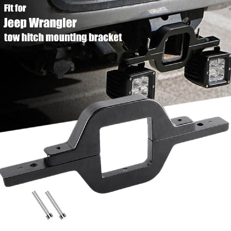 1set 2.5 Towing Hitch Mount Brackets for Truck Trailer RV SUV Pick Up Fit Dual LED Work Light Driving Lighting Reverse Rear Back Up Off Road