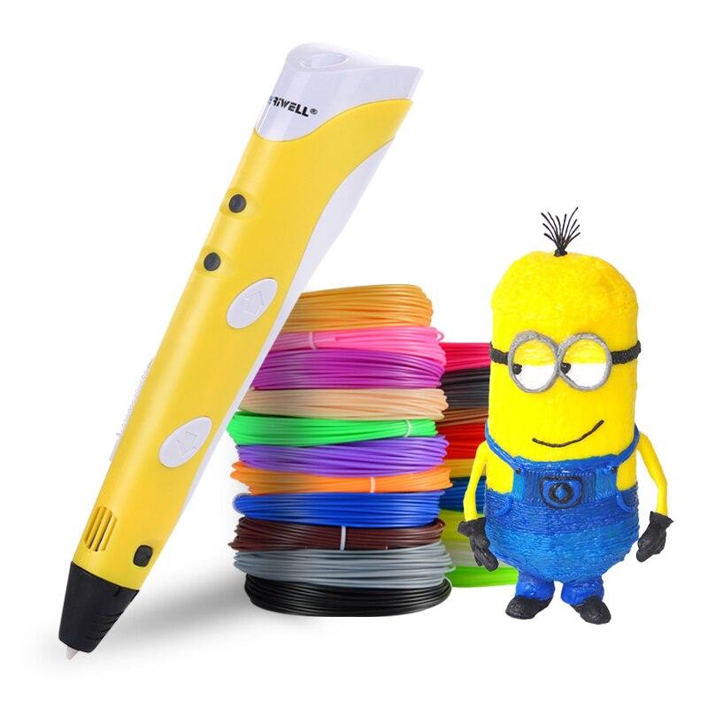 Myriwell 3D 印刷ペン 12 v 3D ペン鉛筆 3D 描画ペン stift pla フィラメント子供のための教育趣味おもちゃ誕生日プレゼント