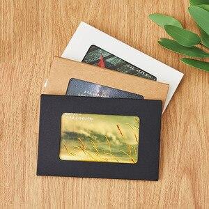 30 шт./лот, натуральная крафт-бумага, упаковочная коробка и окно, черный/белый, открытка, держатель для фотографий, сувенирные коробки для пут...