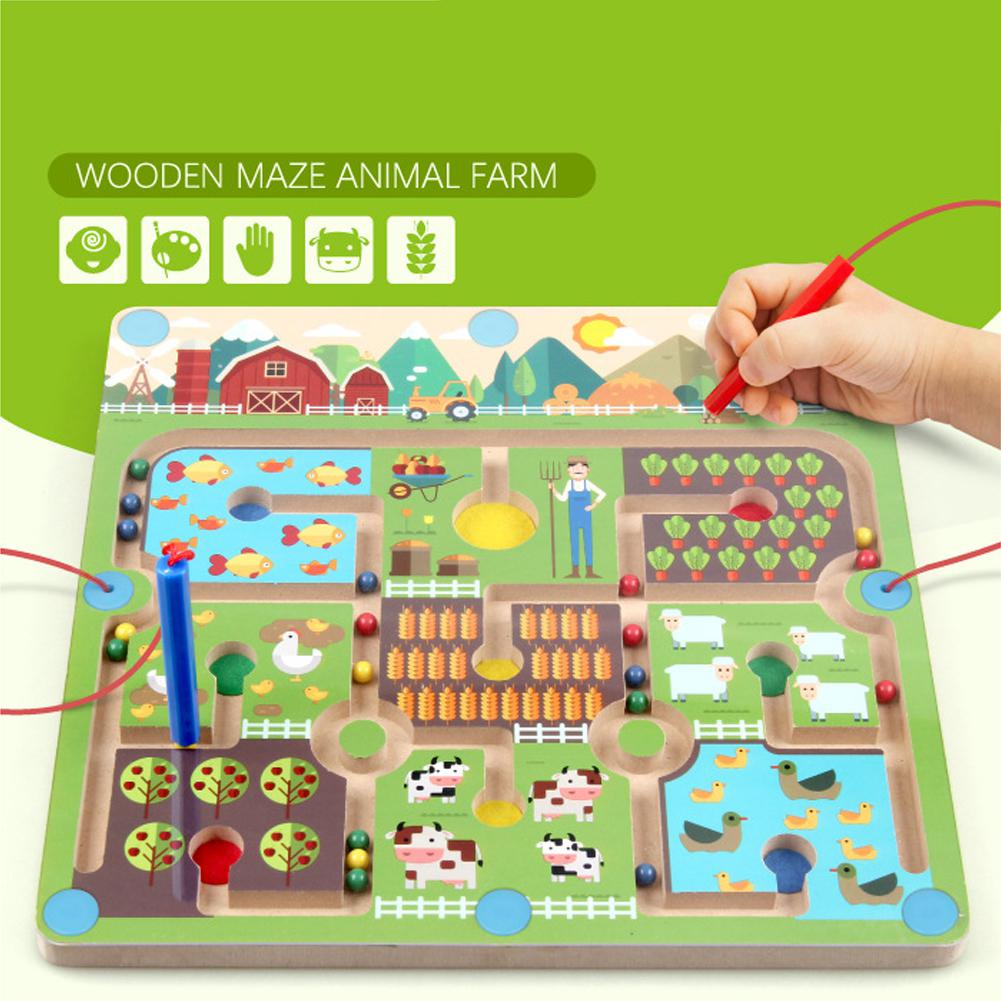 Magnetic Labyrinth Farm Maze Children Early Educational Toy Parent-Child Games Puzzles Kids Children Toys