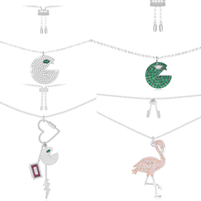 Ailie high quality 1:1 original 925 sterling silver necklace A interesting pac-man flamingo series PM lady fashion jewelry gifts