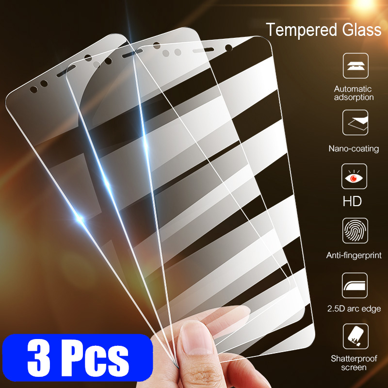 3Pcs Full Cover Tempered Glass For Xiaomi Mi 9 SE 9T CC9 Pro CC9E Note 10 Screen Protector For A2 A3 Lite Protective Glass Film