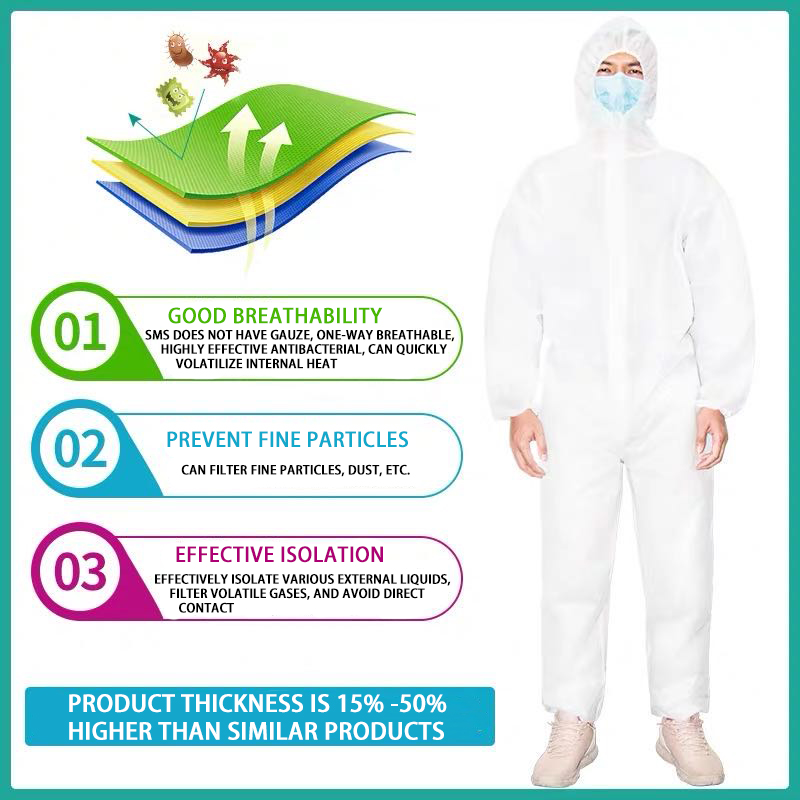 Anti-Virus Isolation Cothing Thick Protective Clothing Medical Full Body Isolation Protective Clothing Siamese