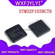 1 pces stm32f103rct6 stm32f103 o remendo microcontroladores de 32 bits cortexm3 256 k chip de memória flash qfp