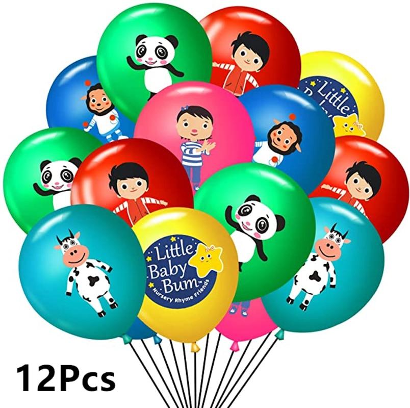 12 шт./лот маленьких бум Balloona 12 дюймов мультяшную тему латексные шары детского дня рождения С Днем Рождения вечерние украшения детские игруш...