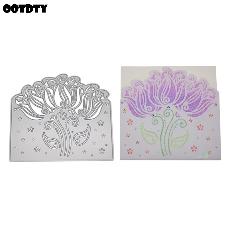 Lavender Metal Cutting Dies Stencil Scrapbooking DIY Album Stamp Paper Embossing